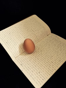 The Egg-Author, Absorbed by His Own Words, Even (2016)